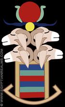 Illustratie van vier koppige Ram uit de oud-Egyptische Zodiak.