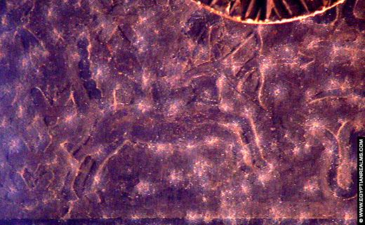 Sterrenbeeld Boogschutter afgebeeld op het plafond van de Esna Tempel.