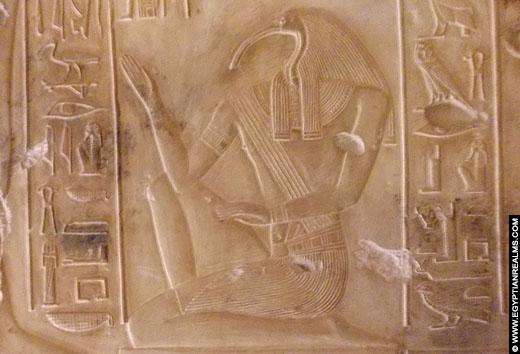 Reliëf van Thoth in de Abydos Tempel.
