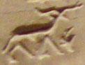 Oud-Egyptisch hieroglief van de ram.
