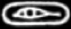 Oud-Egyptisch hiëroglief van een oog.