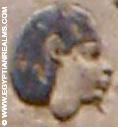 Oud-Egyptisch hiëroglief van een hoofd.
