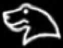 Oud-Egyptisch hiëroglief van een kop van een nijlpaard.