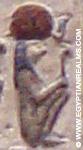 Oud-Egyptisch hieroglief van Ra.