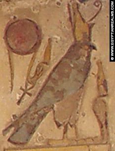 Oud-Egyptisch hieroglief van een havik.