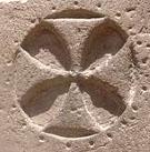 Oud-Egyptisch hiëroglief van een kruis.