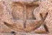 Oud-Egyptisch hieroglief van een boot met mast.