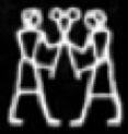 Oud-Egyptisch hieroglief van twee mannen.