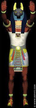 Illustratie van een Anpu priester.
