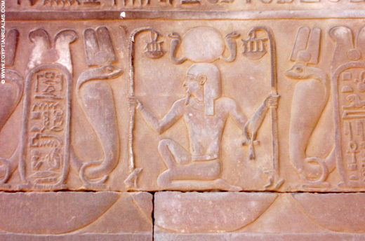 Relief van Heh in de Kom-Ombo Tempel.