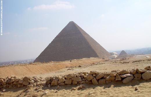 Grote piramide van Cheops in Gizeh.