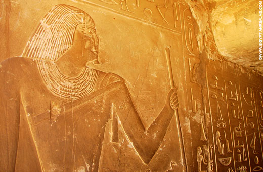 Voorstelling in een Tombe bij Saqqara.