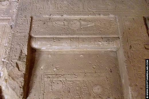 Blinde deur in de Abydos Tempel.