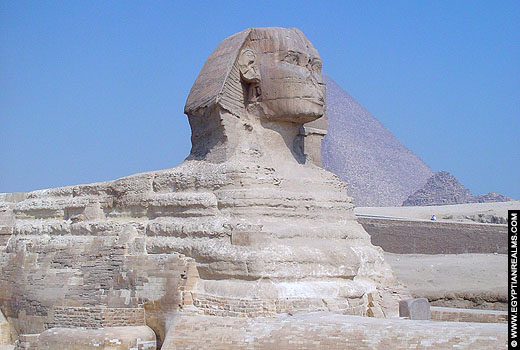 Grote Sphinx in Gizeh.