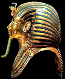 Gouden dodenmasker van Tutankhamun.
