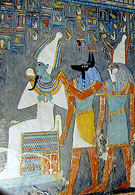 Relief uit de tombe van farao Horemheb.
