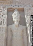 Detail van de Abu Simbel Tempel.
