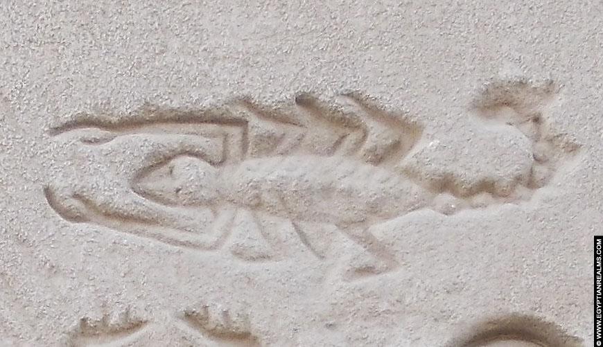 hieroglief schorpioen dendera