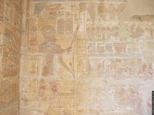 Amenhotep III en gier Nekhbet