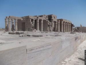 Achterzijde van het Ramesseum