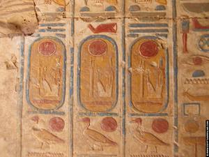 Cartouches op de tempel van RamsesI