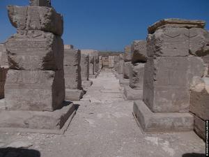 Restanten van de tempel van RamsesI