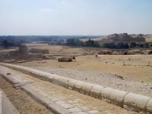 De omgeving achter de Sphinx