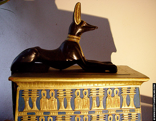 Funeral coffin of Tutankhamun.
