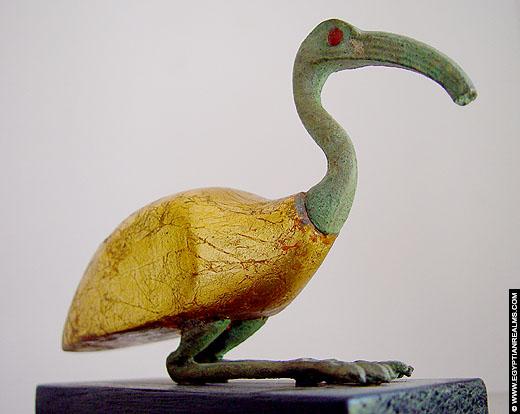 Beeldje van een Ibis vogel. Copyright EgyptianRealms.com