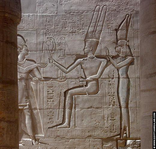 Relief van Ramses II afkomstig van de Ramesseum tempel.