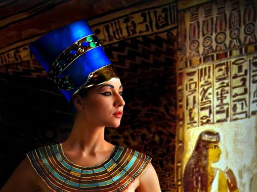 Impressie van koningin Nefertiti.