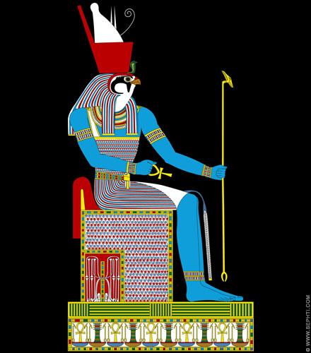 Illustratie Ra. ©R.Bloom. Egyptianrealms.com
