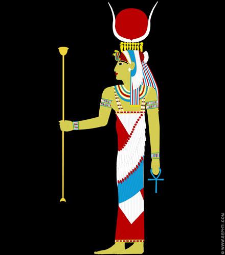 Illustratie Isis. ©R.Bloom, Egyptianrealms.com