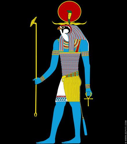 Illustratie Heru-Ra. ©R.Bloom, Egyptianrealms.com