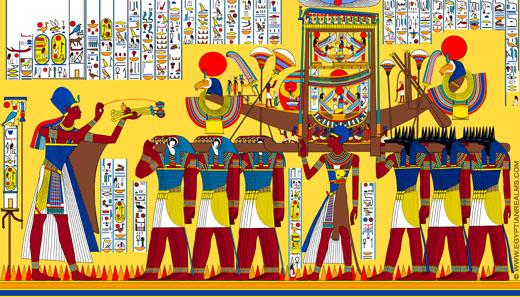 Reconstructie van de Boot van Amun.
