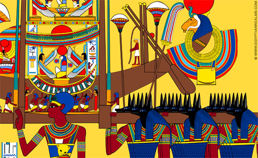 Reconstructie Boot Amun-Ra. ©R.Bloom, Egyptianrealms.com