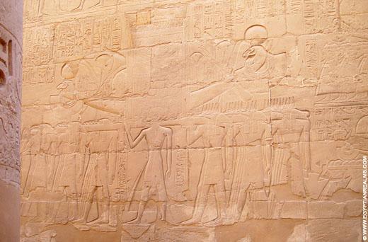 Bark van Amun in de Karnak Tempel.