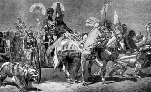 Illustratie van Pharaoh Ahmose I.