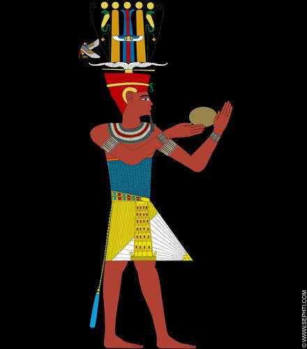 Illustratie Pharaoh. ©R.Bloom, Egyptianrealms.com