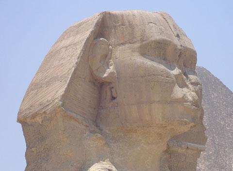 Huidige situatie van de Sphinx.