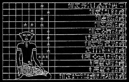 Egyptische tekening.