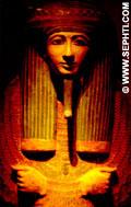 Deksel van een mummie kist.