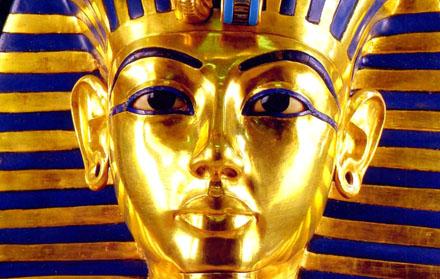 Gouden masker van Tutankhamun.