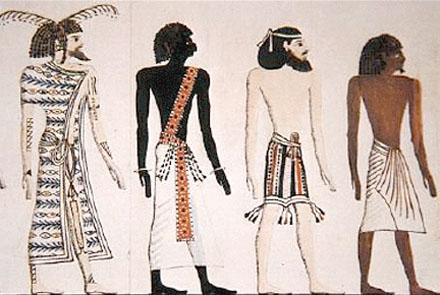 Volk uit Egypte waaronder een Libier, Phoenician en Ethiopier.