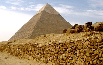 De Grote Piramide van Giza.