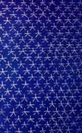 Plafon beschilderd met vijf-puntige sterren.