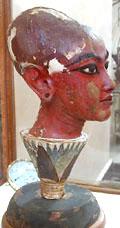 Het Dubbel hoofd van Tutankhamun.