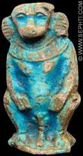 Egyptisch amulet van de Baviaan.