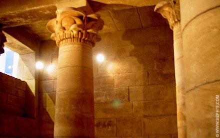 Een oud Egyptische kapel.