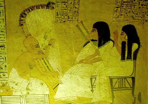 Egyptische Harpspeler.